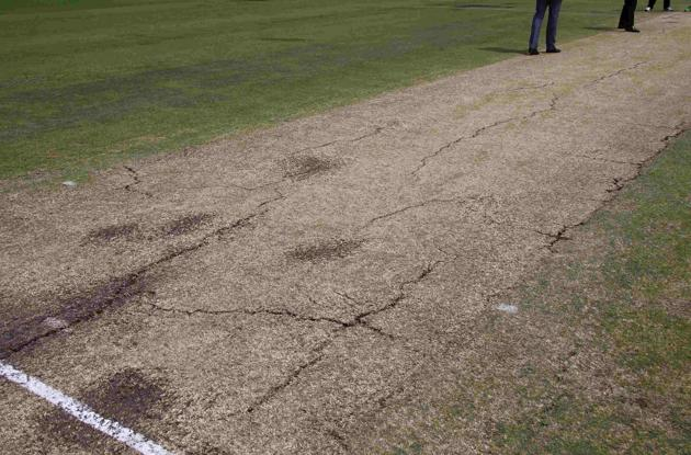 Foot Marks on Cricket Pitches