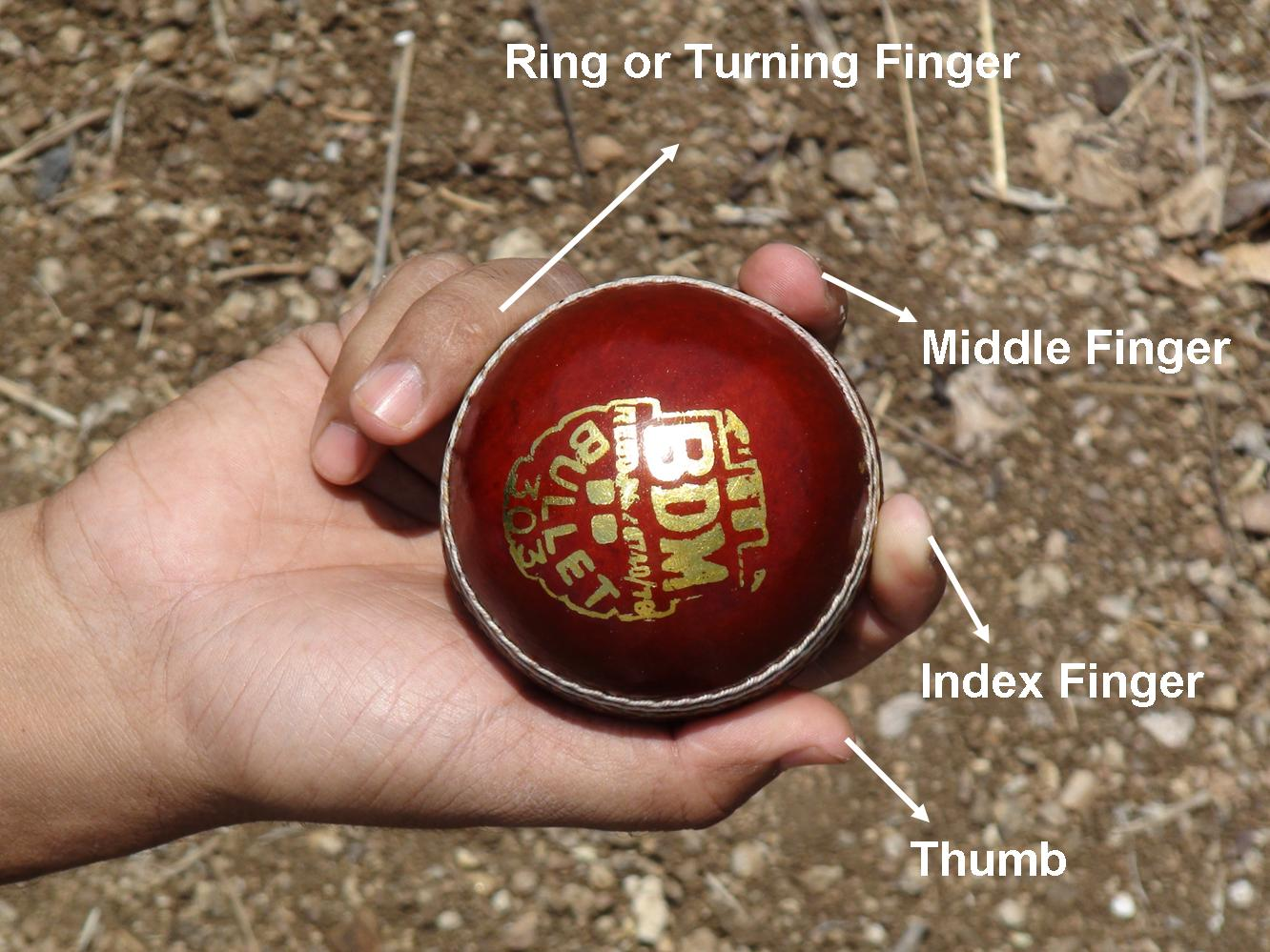 Watch How to Grip the Ball to Bowl Offspin video