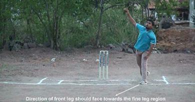 Leg break bowling - Position of front leg